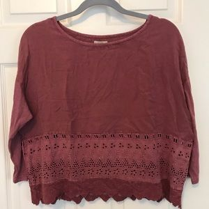 NWT Urban Outfitters Ecote Crochet T-shirt